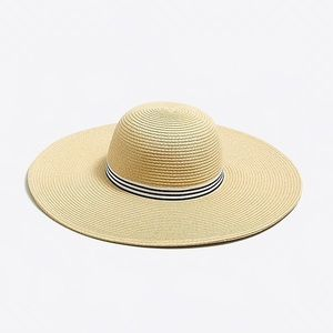 J. Crew Factory | Wide Brim Straw Collapsible Hat